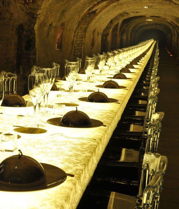 Dinner @ Moet & Chandon Champagne Cellar @}-,-;—