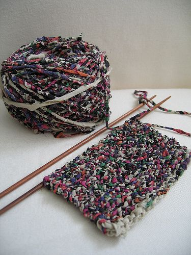 Image result for knitting with fabric offcuts