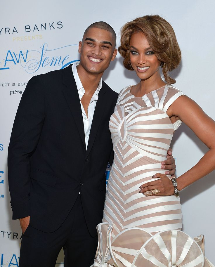 Tyra Banks and Rob Evans at The Flawsome Ball For The Tyra Banks TZONE in NYC on October 18, 2012 - Getty Images