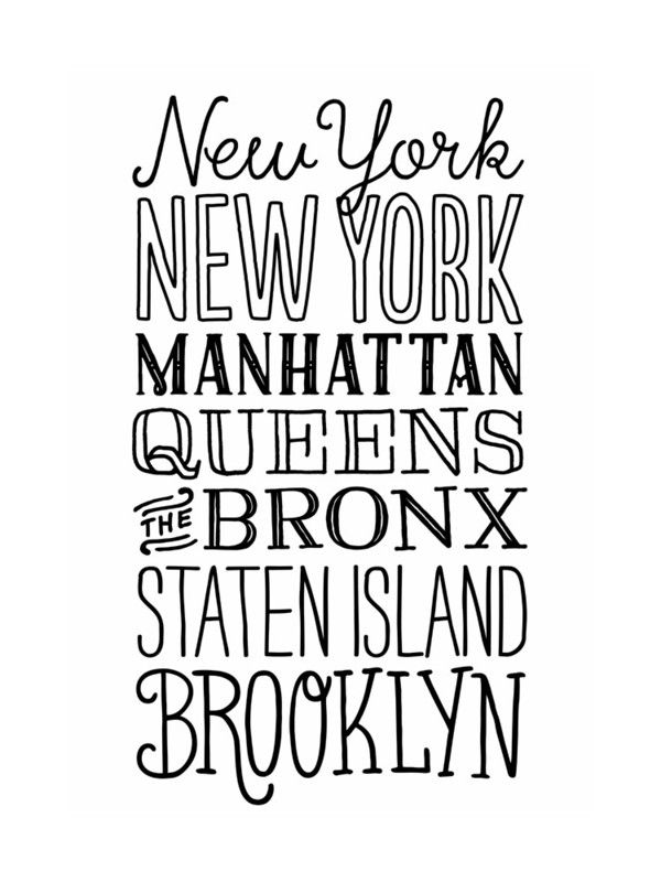 My Type of New York Wall Art Prints by Jessie Steury | Minted