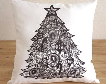 Christmas Tree Pillow Cover, Christmas Gift Decorative Pillow  Cover - Free Shipping - Gifts For Her, Home Decoration, Throw Pillow, Cushion