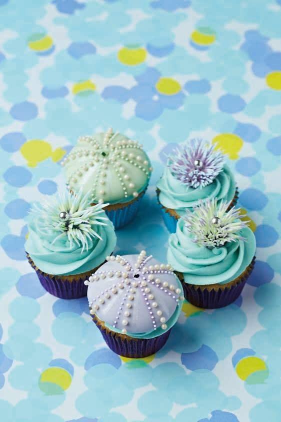 Sea Urchin Cupcakes