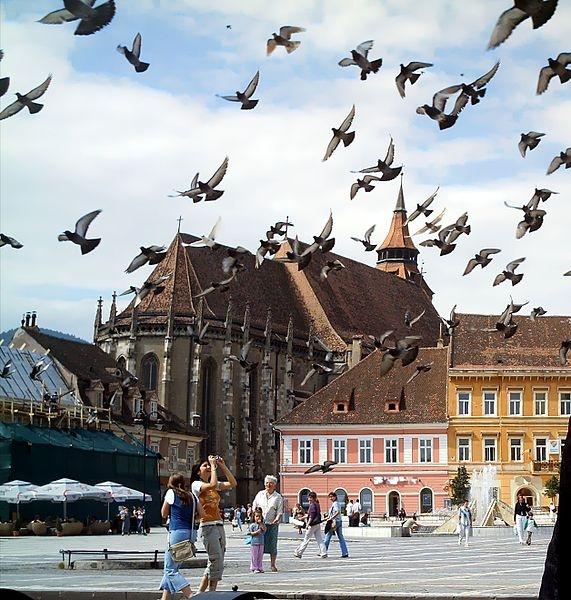 #Deutsch: Die Schwarze Kirche in Braşov (Kronstadt), Rumänien    #Română: Biserica Neagră din Braşov (Kronstadt), România