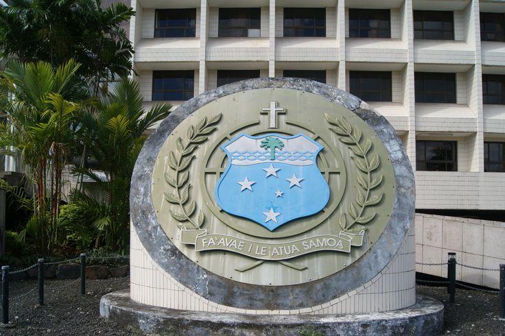 #Travel: Samoa Coat of Arms, #Apia, #Samoa. Photo: D Rudman