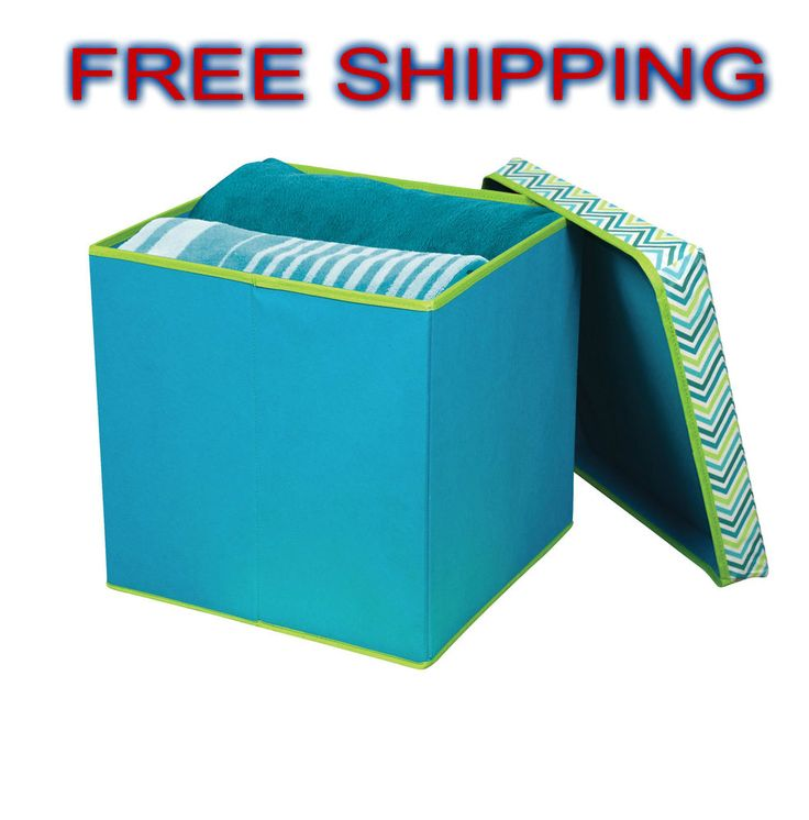 Folding Storage Ottoman Seat Dining Footrest Stylish Space Saver Home Decor NEW* #Contemporary