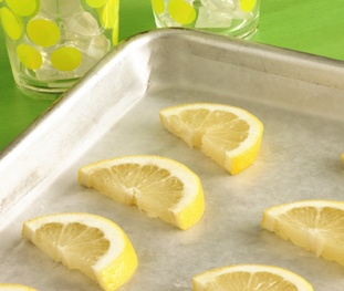 Here's a way to keep iced tea and other beverages cool. Slice lemons, freeze the slices on waxed paper-lined baking sheets and then store them in resealable plastic freezer bags. Just add a slice or two to your drink instead of ice cubes to keep it chilled without watering it down.
