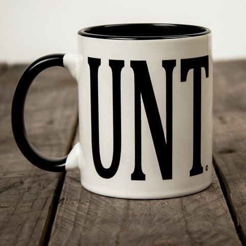 The Original UNT Mug $16.09 -Excellent beverage serving abilities -High quality glazed ceramic construction -Oddly familiar selection of letters -C-shaped handle