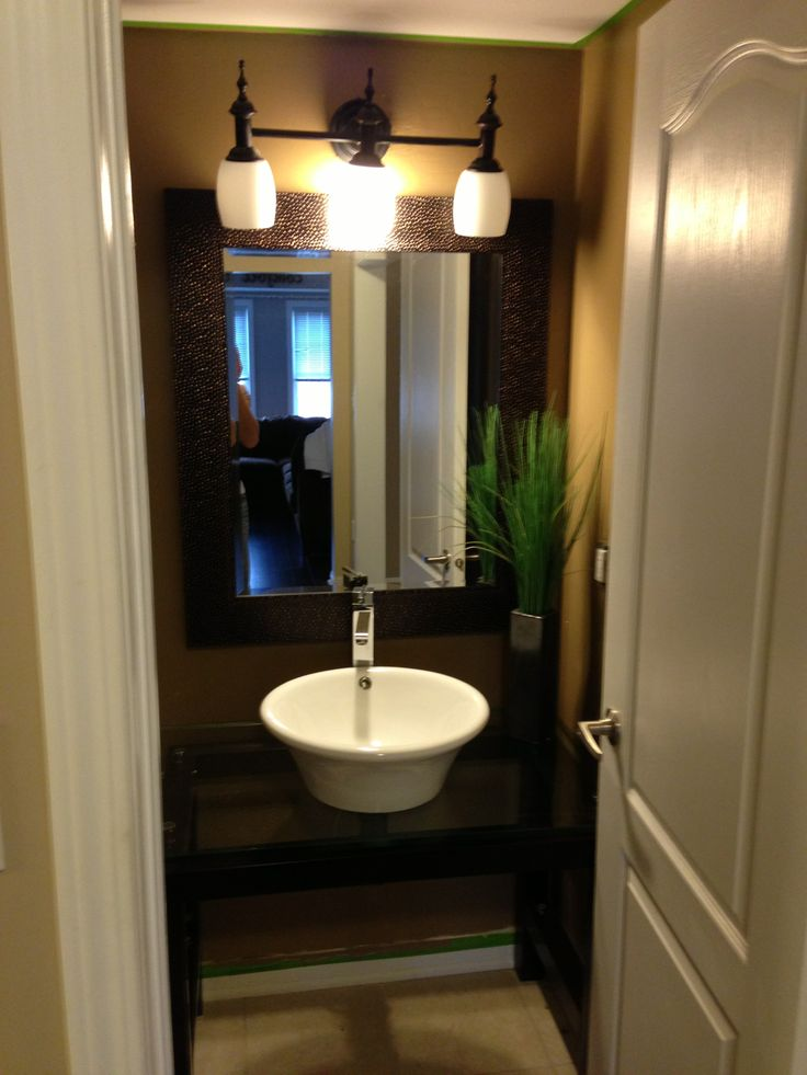 Bathroom Light Fixtures Mississauga modern and chic powder room. painted in designer tones, 3 piece