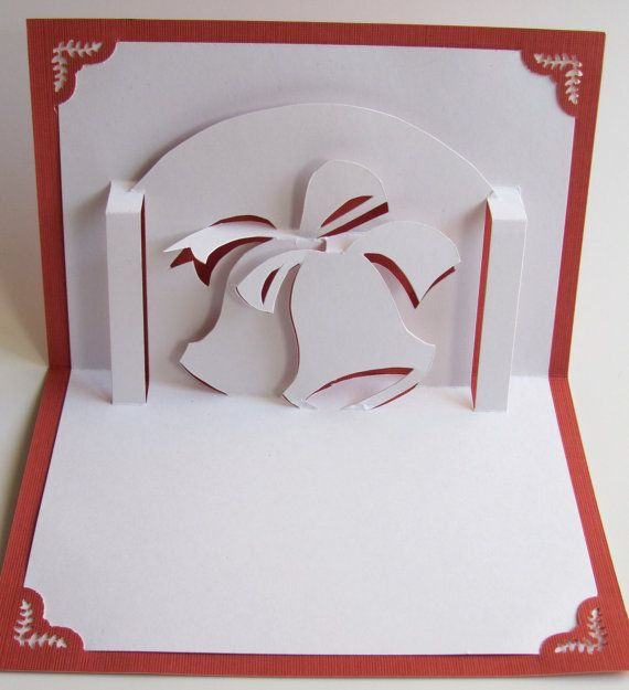 CHRISTMAS Bells in 3D Pop Up Holiday Greeting Card by BoldFolds