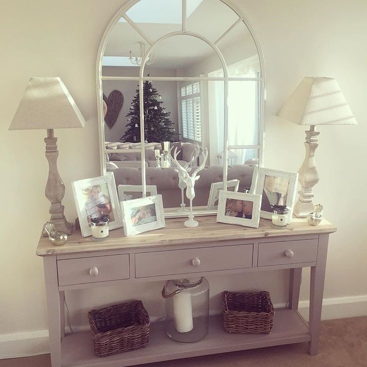 The 25 best hallway mirror ideas on pinterest entryway for Hallway mirror and shelf