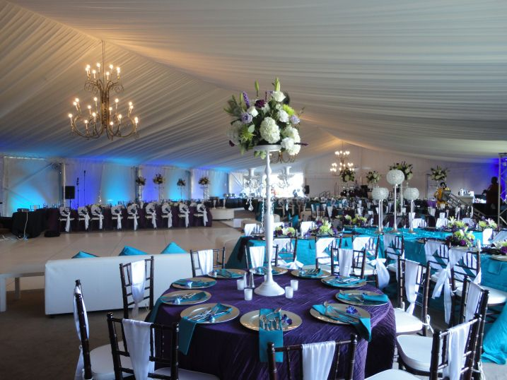 Purple And Teal Blue Wedding