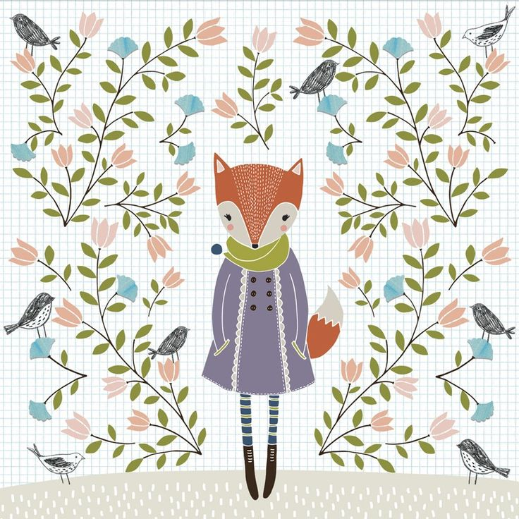 Winter Fox - Flora Waycott / Oopsy Daisy