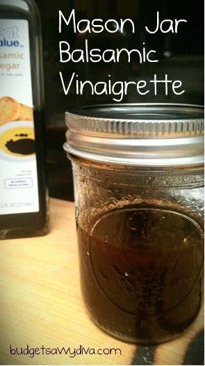 Mason Jar Balsamic Vinaigrette - Gluten Free