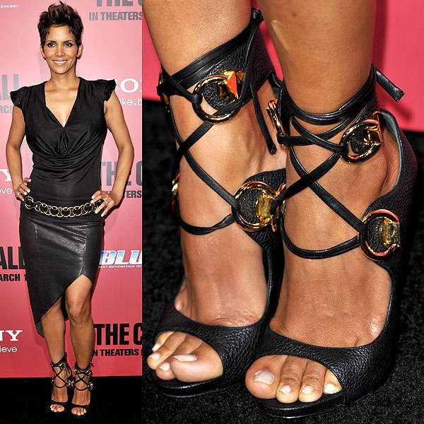 "Halle Berry Is Both a Show and Time Stopper in Giuseppe Zanotti Sandals at ""The Call"" LA Premiere"