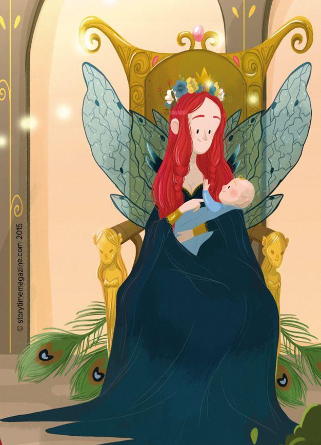 A fairy queen, illustrated by Margaux Saltel (https://www.artstation.com/artist/supergna) in Storytime Issue 10's fairy folk tale ~ STORYTIMEMAGAZINE.COM