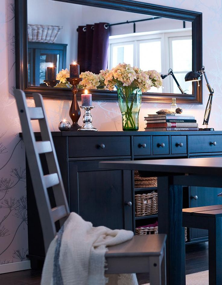Ikea Mirror And Buffet