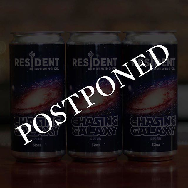 We regret to inform you that we have made the decision to postpone the release of Chasing Galaxy IPA to a future date. The truth is that this batch did not meet our standards and it doesn't reflect what Chasing Galaxy is. We hope everyone understands and thank you for the continued support. #sandiego #sandiegoconnection #sdlocals #sandiegolocals - posted by Resident Brewing Company https://www.instagram.com/residentbrewing. See more San Diego Beer at http://sdconnection.com