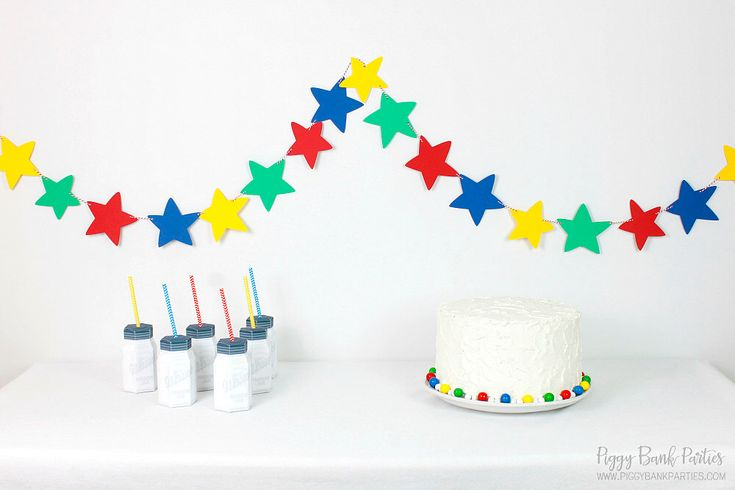Cartoon Star Garland : Handcrafted Party Decoration   Nursery Decor   Home Decor   Primary Colors   Featured on Birthday Express by PiggyBankParties on Etsy https://www.etsy.com/listing/263955961/cartoon-star-garland-handcrafted-party