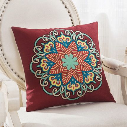 Mediterranean Style Cotton and Linen Decorative Throw Pillows