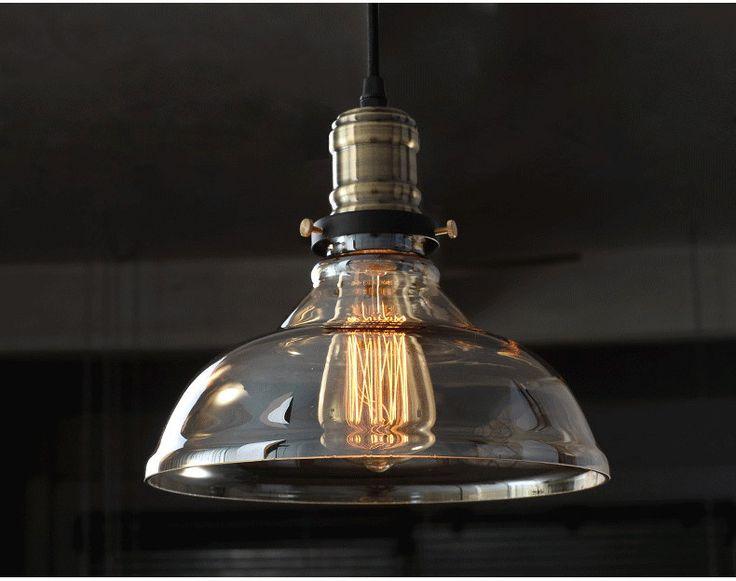 Slaapkamer Lamp : Industri?le stijl edison glazen plafondlamp lamp ...
