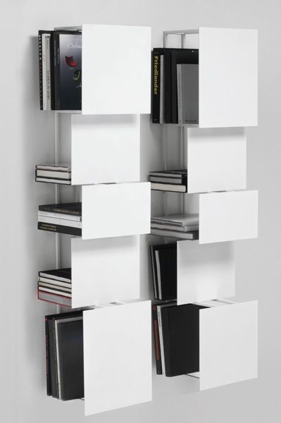 Wall-mounted steel #bookcase BUKVA by Living Divani | #design Victor Vasilev @Living Divani