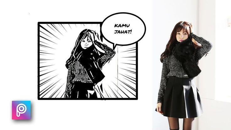 Cara Edit Foto Seperti Komik Anime Jepang dg Picsart - PicsArt tutorial ...