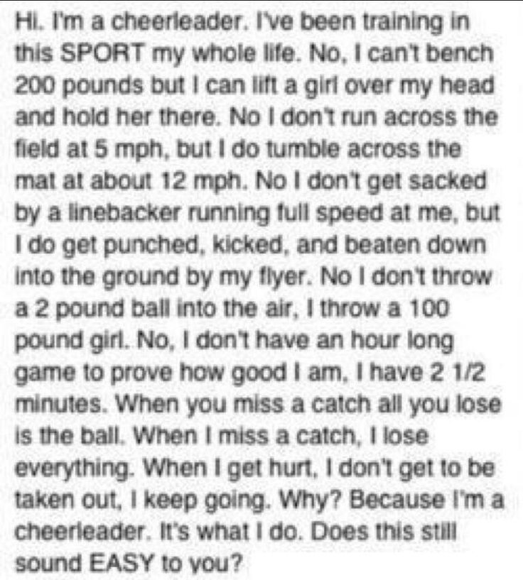 Great inspiration for a male cheerleader, I love this!