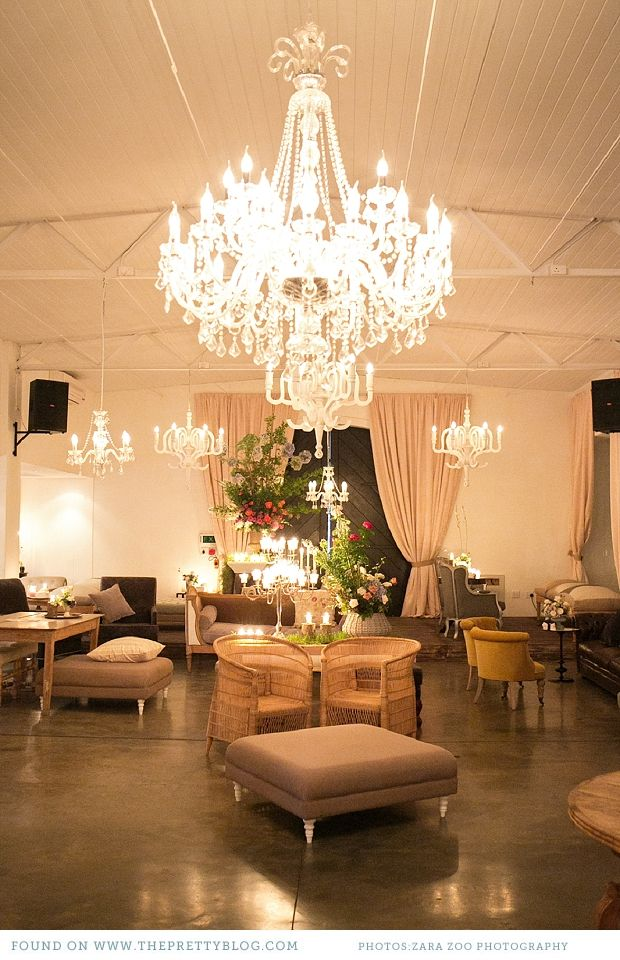 wedding reception at home ideas uk%0A Chandelier   Photo  Zara Zoo Photography  Venue  Molenvliet Estate