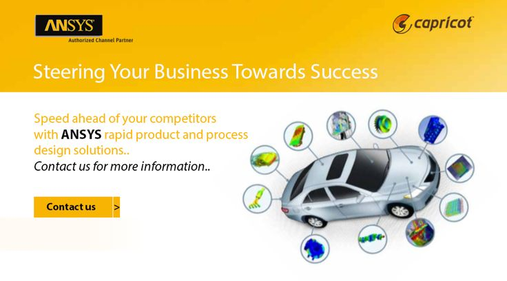 Speed ahead of your competitors with #ANSYS rapid product and process design solutions.. Contact us for more information