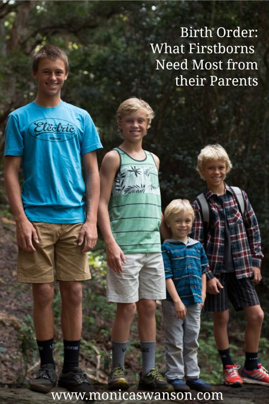 Birth Order:  What firstborns need most from their parents | Monica Swanson
