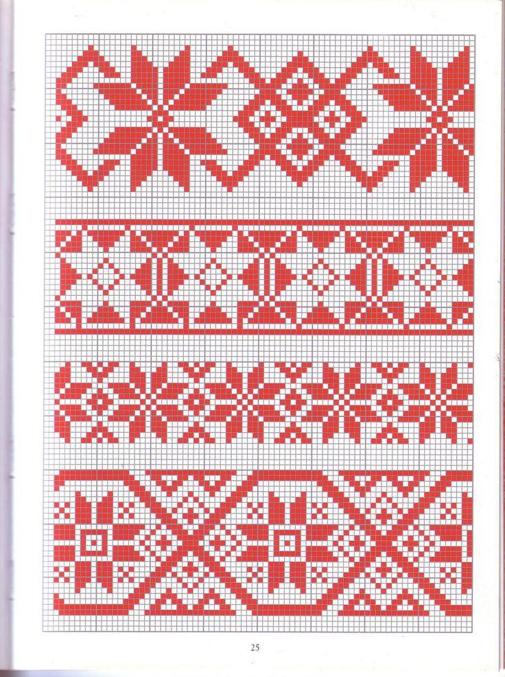 Krustdūrienu raksti / Latvian tracitional cross stitch