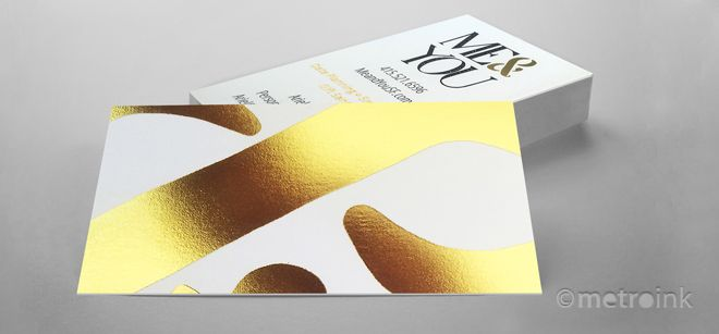 50 best copper foil business cards images on pinterest copper full color uncoated business cards printing with foil stamping reheart Images