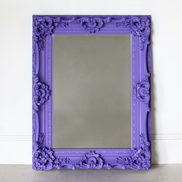 High Gloss Purple Ornate Mirror