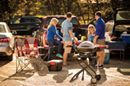 It's not until you see a baby Q Premium roasting a whole chicken dinner outside a caravan that you know why the 'baby' Q is really the ideal travelling and camping BBQ. At home, in the boot of your car, out in the bush or down at the beach, the baby Q gives you total flexibility. Be sure to see the Premium Q models in store where you get a higher lid for extra roasting space and a built in thermometer, only available at your local Weber Specialist Dealer. The Outdoor Chef Perth's Home of BBQ…