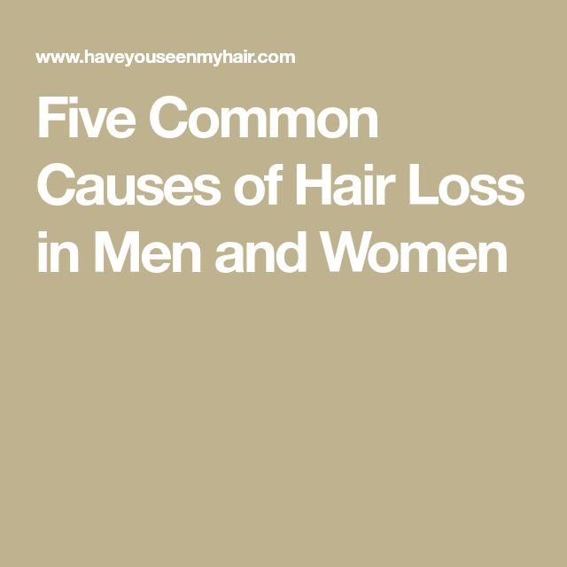 Five Common Causes of Hair Loss in Men and Women #hairlosstreatment #whyamilosinghair #hairlossremedymen