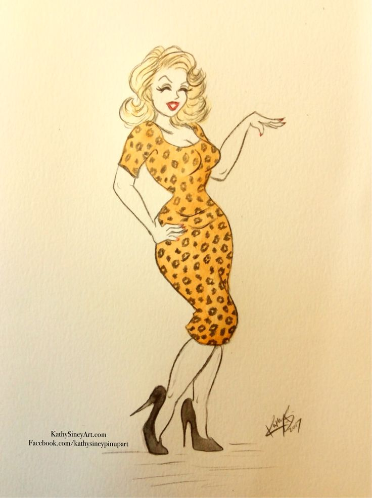 Oh stop it! Vintage pin up girl in watercolour