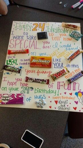 Candy birthday card for him ♥