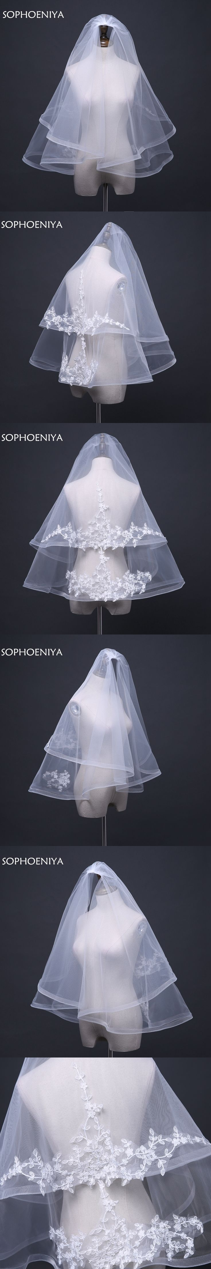New Arrival Ivory Two layer Brdal veils 2018 Veu de noiva longo Wedding accessories Cheap Velo de novia In stock voile de mariee