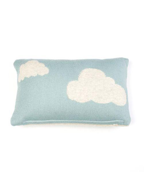 Indus Daydream Baby Cushion Seafoam / Natural |Krinkle - Homewares & Gifts