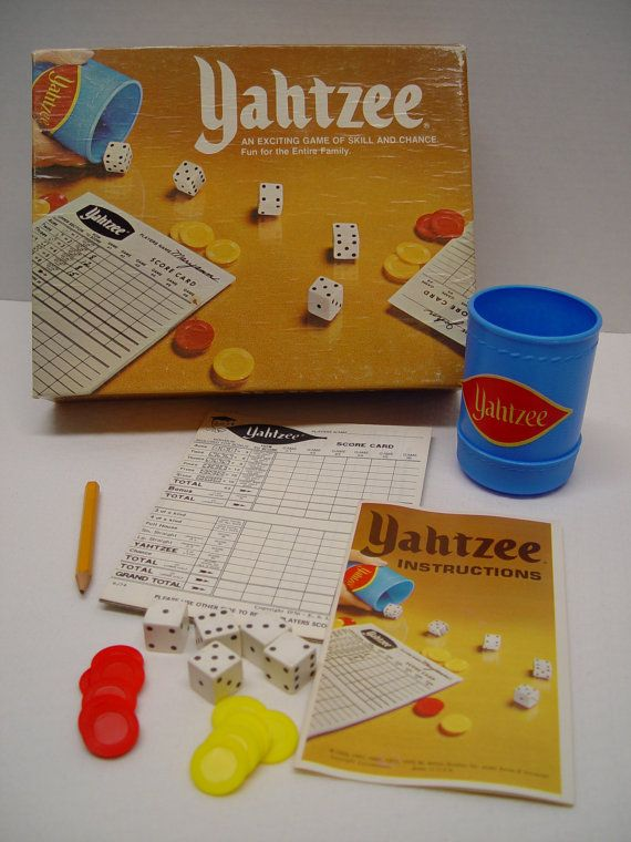 1975 Yahtzee Game by Milton Bradley Multiple by GandTVintage