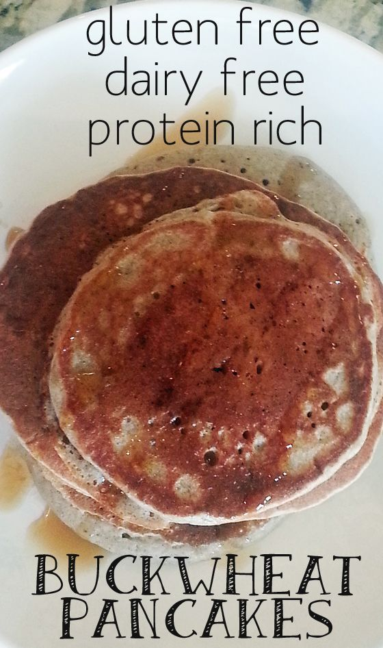 These fluffy pancakes are protein rich and gluten free.
