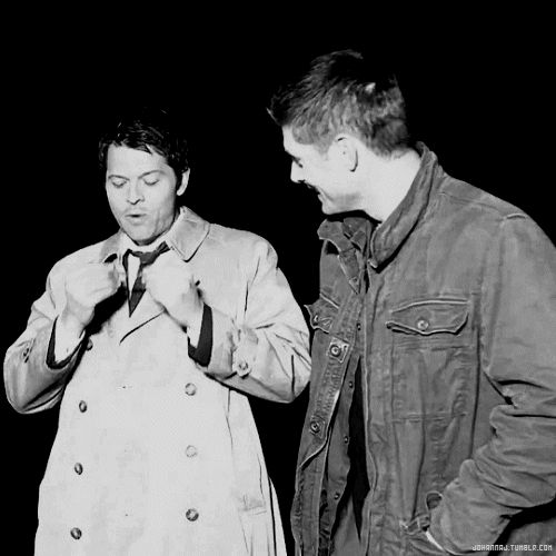 Wormstache gif......Jensen's face as he laughs is great
