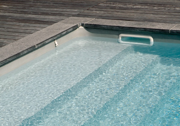 Liner gris pour la piscine