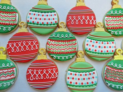 Day 2 of Cookie Videos: How to Decorate an Ornament Cookie