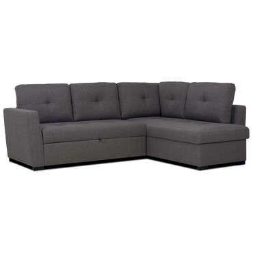 canap d 39 angle convertible 3 places venice coloris gris. Black Bedroom Furniture Sets. Home Design Ideas