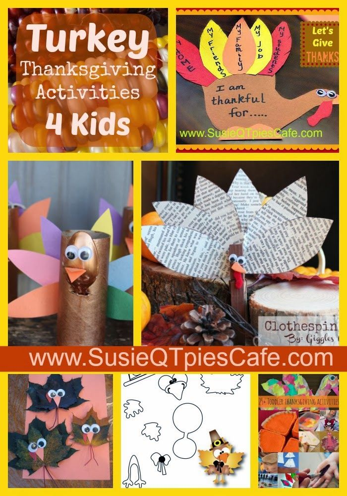 Turkey Thanksgiving Activities for Kids #thanksgiving