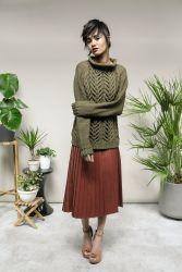 Вязание спицами для женщин пуловера Astoria
