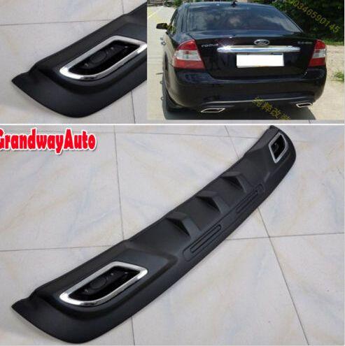 Пу заднего бампера диффузор спойлер бампера протектор для форд фокус седан 2009 - 2011