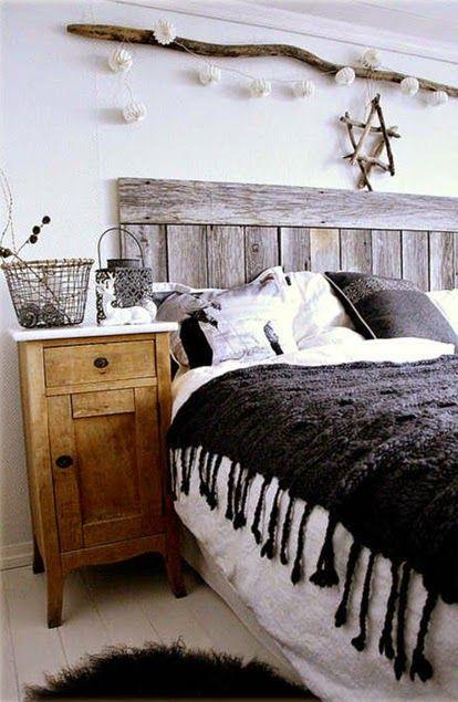 inspiracje w moim mieszkaniu: Pomysł na zagłówek łóżka /The idea for the headboard