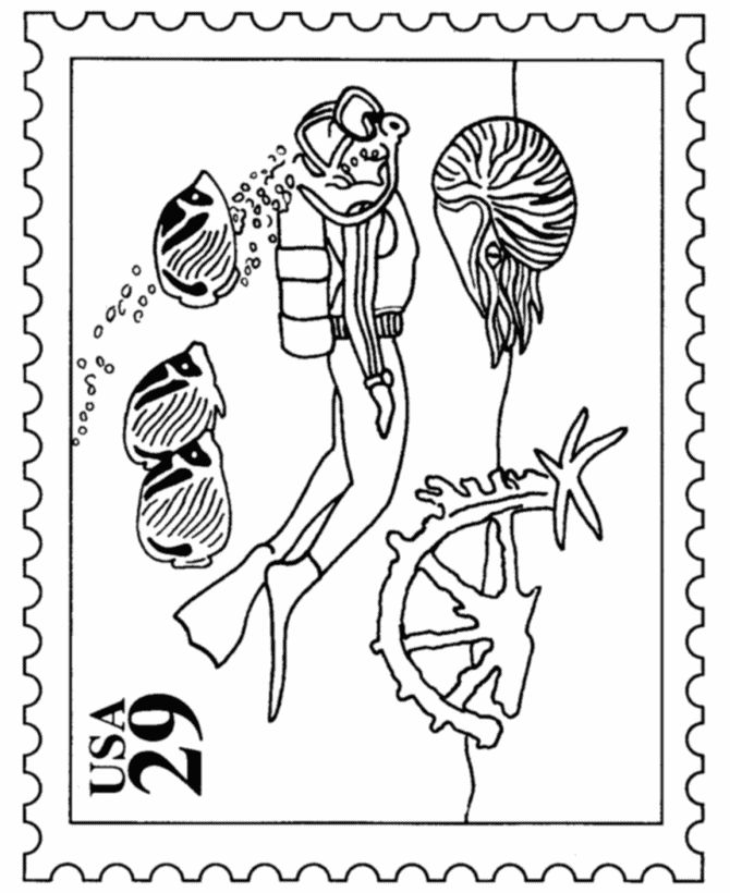 postal coloring pages - photo#19